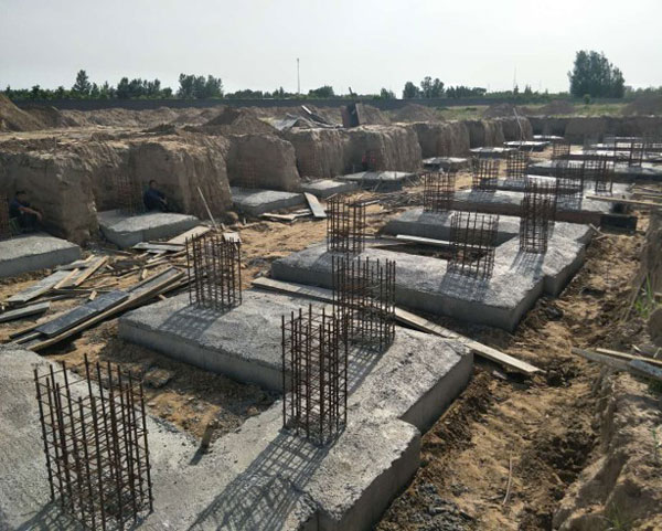 Underground work for BCFoods Hebei, China dehydration facility